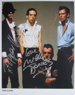 The Clash Signed Photo