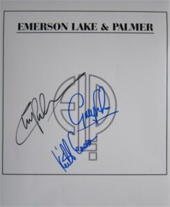 Emerson Lake and Palmer Signed Photo