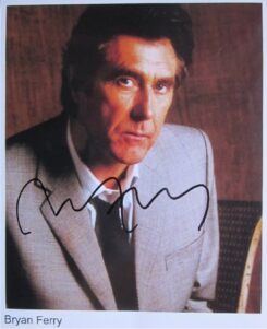 Bryan Ferry Signed Photo