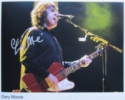 Gary Moore Signed Photo