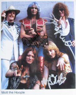 Mott the Hoople Signed Photo