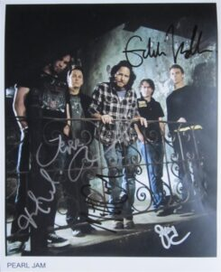 Pearl Jam Signed Photo