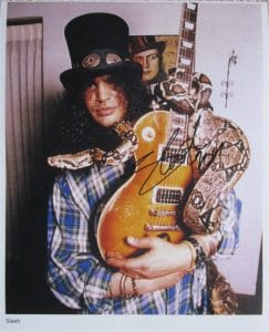 Slash Signed Photo