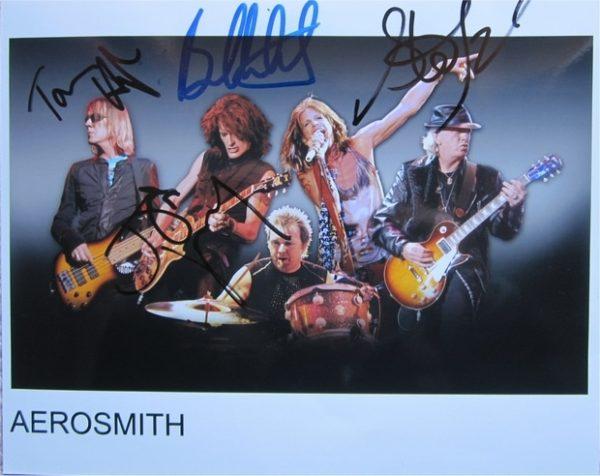 Aerosmith Signed Photo