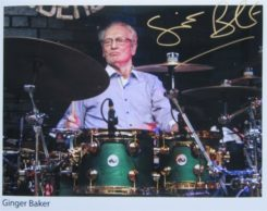 Ginger Baker Signed Photo