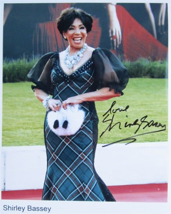 Shirley Bassey Signed Photo