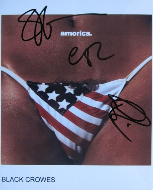 Black Crowes Signed Photo