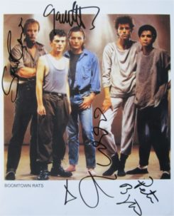 Boomtown Rats Signed Photo