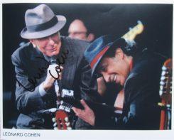Leonard Cohen Signed Photo