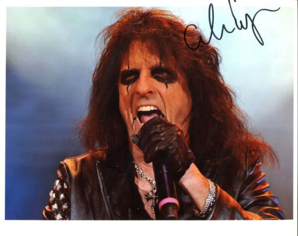 Alice Cooper Signed Photo