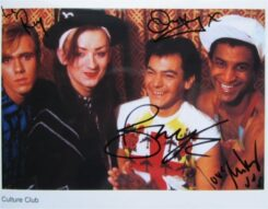 Culture Club Signed Photo