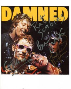 The Damned Signed Photo