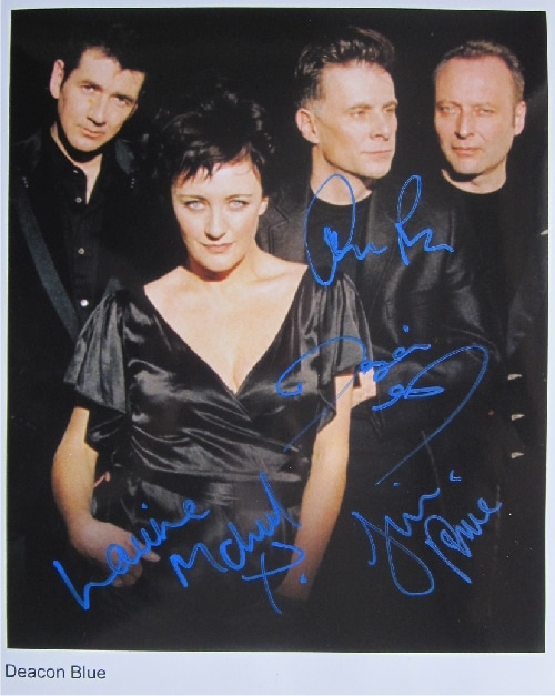 Deacon Blue Signed Photo