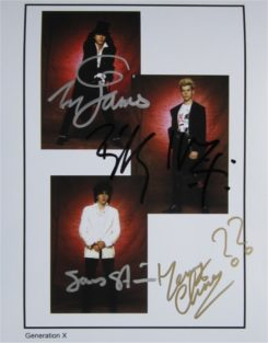 Generation X Signed Photo