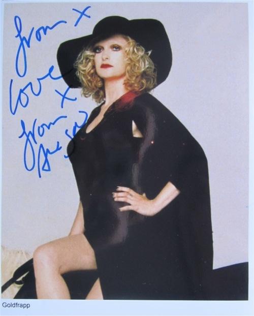Goldfrapp Signed Photo