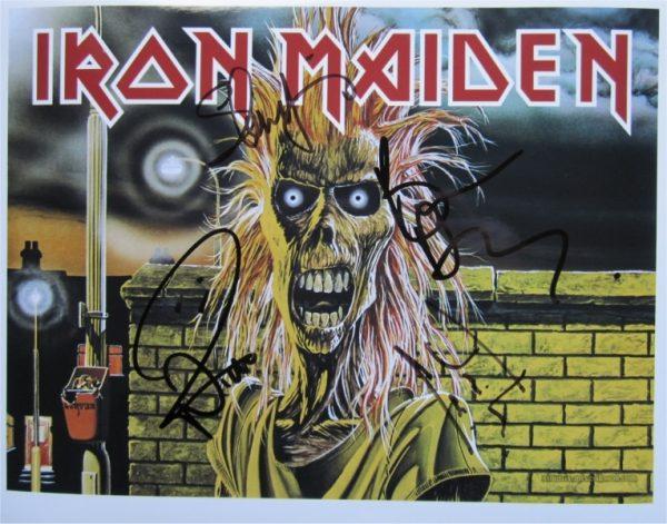 Iron Maiden Signed Photo