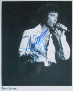 Tom Jones Signed Photo
