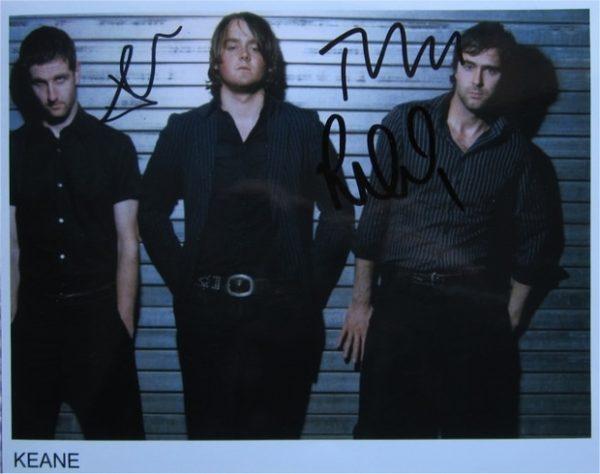 Keane Signed Photo