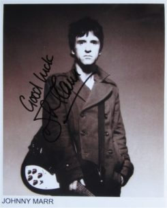 Johnny Marr Signed Photo