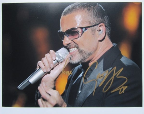 George Michael Signed Photo