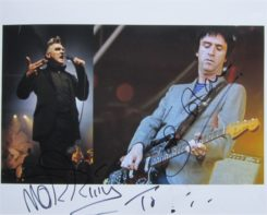 Morrissey / Johnny Marr Signed Photo