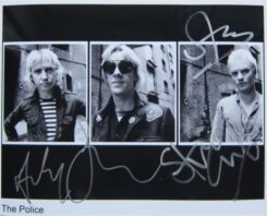 The Police Signed Photo