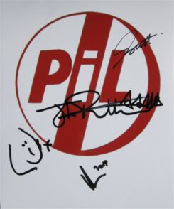 Public Image Limited Signed Photo