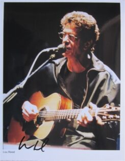 Lou Reed Signed Photo