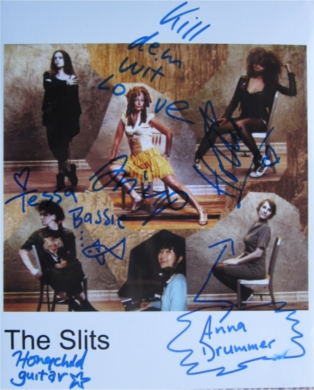 The Slits Signed Photo