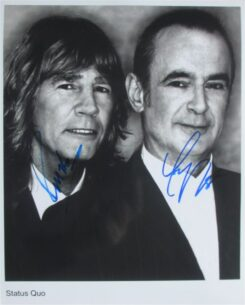 Status Quo Signed Photo