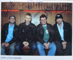 Stiff Little Fingers Signed Photo