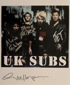 UK Subs Signed Photo