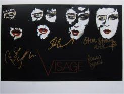 Visage Signed Photo