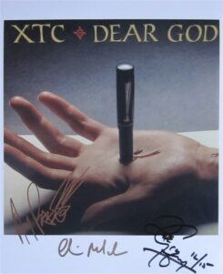 XTC Signed Photo