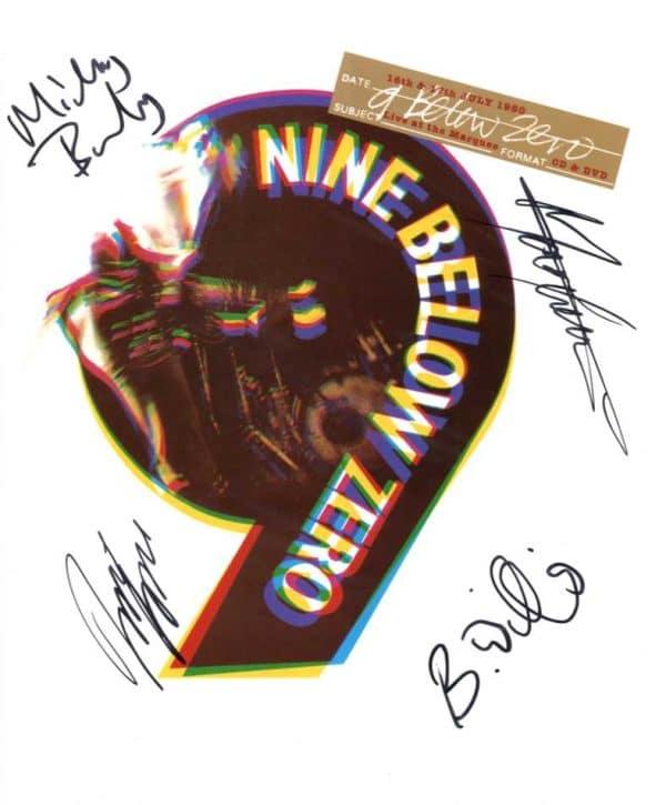 Nine Below Zero Signed Photo