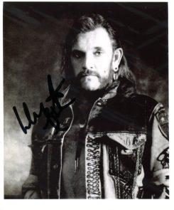 Lemmy Signed Photo