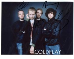 Coldplay Signed Photo