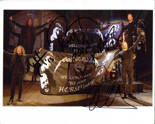 Metallica Signed Photo