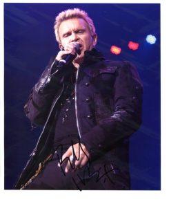 Billy Idol Signed Photo