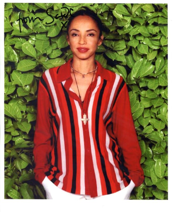 Sade Signed Photo