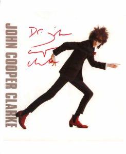 John Cooper Clarke Signed Photo