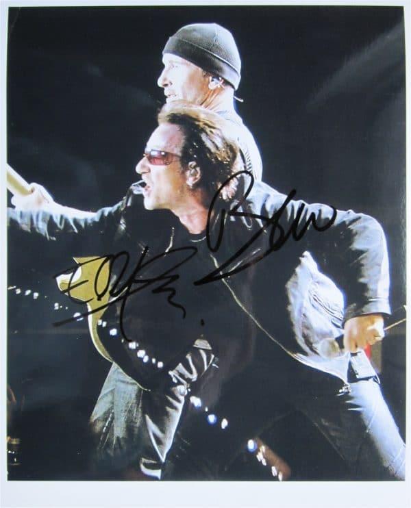 U2 Signed Photo